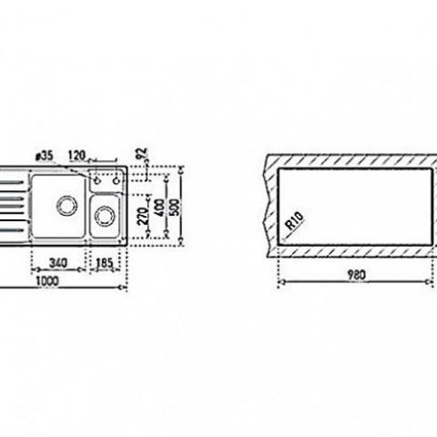 Кухонная мойка Teka STAGE 60 B RHD (30000592) полированная