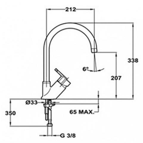 Смеситель кухонный Teka Elan H (MJ) (35911502) хром