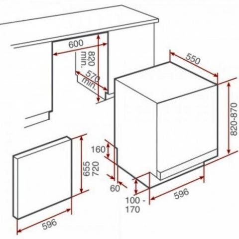 Посудомоечная машина встраиваемая Teka DW 8 57 FI (40782125)