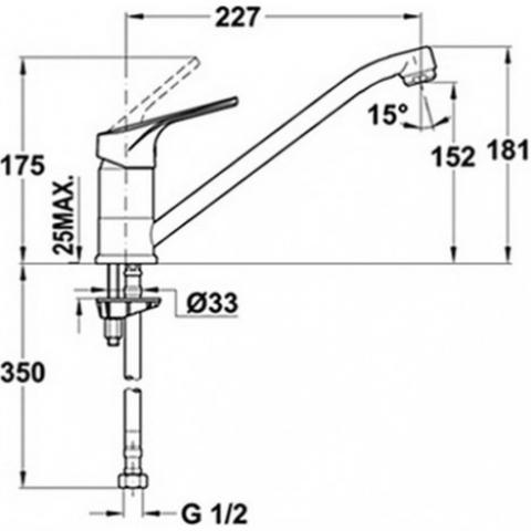 Смеситель кухонный Teka MT Plus L (MTP 913) (469130210) хром