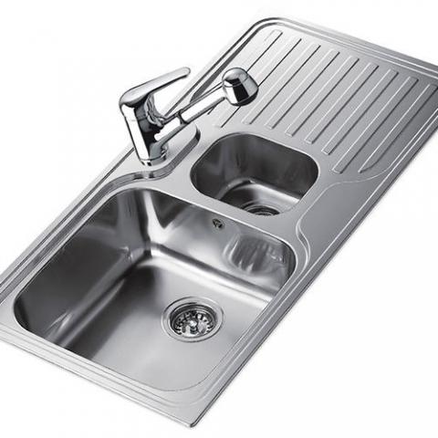 Кухонная мойка TEKA CLASSIC 1 1/2 B 1D (10119040) сталь полированная