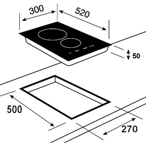 Модульная индукционная варочная поверхность Teka IR 3200 (WISH, Maestro) (10210171) черный