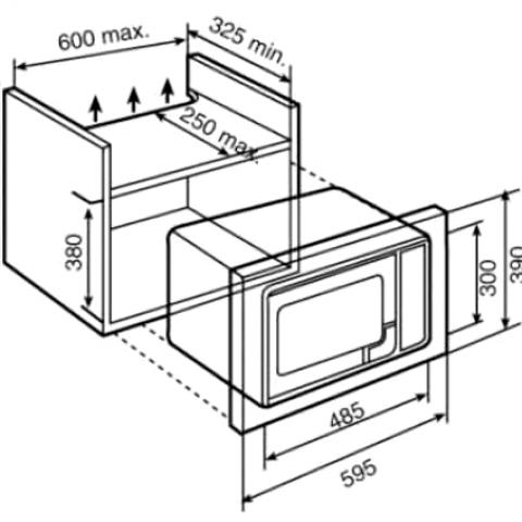 Микроволновая печь встраиваемая Teka WISH Easy MB 620 BI (40584001)
