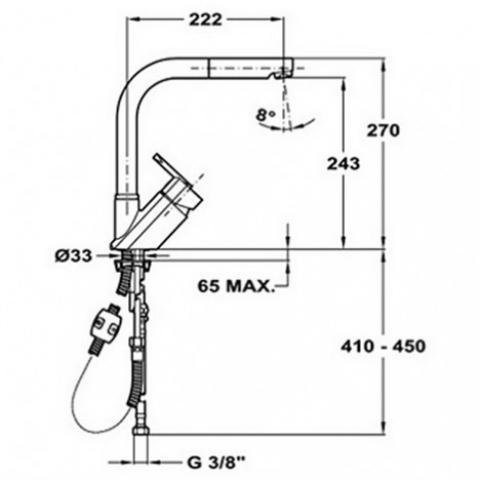Смеситель кухонный Teka Elan HP (MW) (FO 915) (35931802) хром