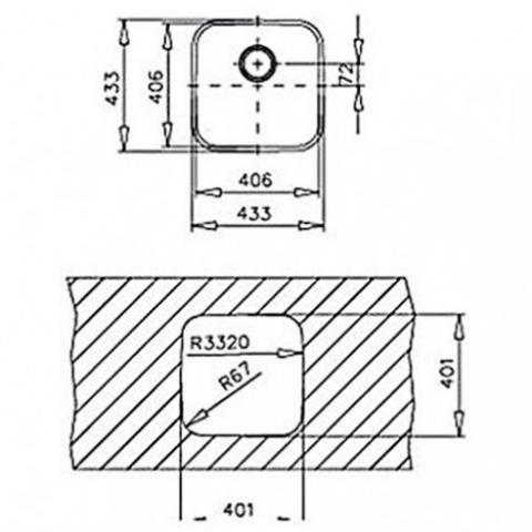 Кухонная мойка Teka BE 40.40 (25) (10125021) полированная