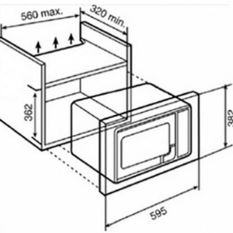 Микроволновая печь встраиваемая Teka MWE 207 FI (40581117) нержавеющая сталь