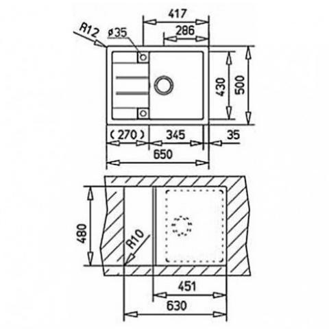 Кухонная мойка Teka ASTRAL 45 B-TG (40143515) алебастр