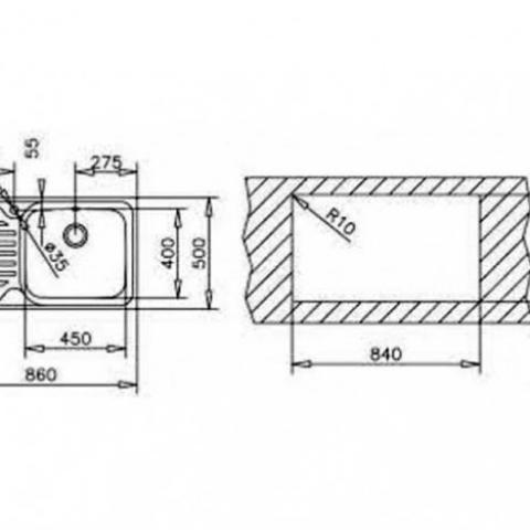 Кухонная мойка Teka CLASSIC MAX 1B 1D RHD (11119200) полированная