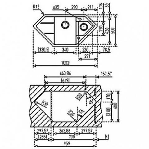 Кухонная мойка Teka ASTRAL 80 Е-TG (88902) топаз