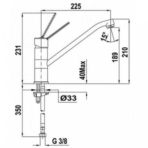 Смеситель кухонный Teka MTP L (MTP 993) (469934510) хром
