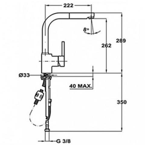 Смеситель кухонный Teka Alaior-XL HP (ARK 938) (239381210) хром