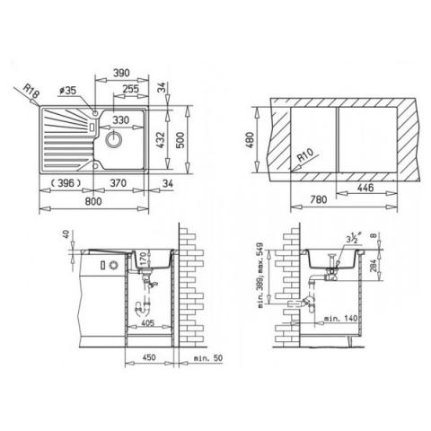 Кухонная мойка Teka Cascad 45 B-TG (87486) топаз