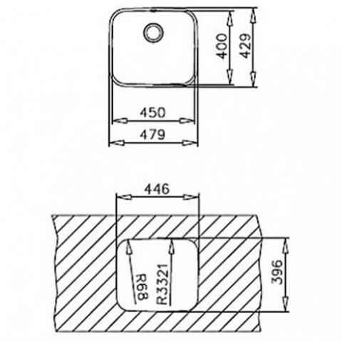 Кухонная мойка Teka BE 50.40.20 Plus (10125122) полированная