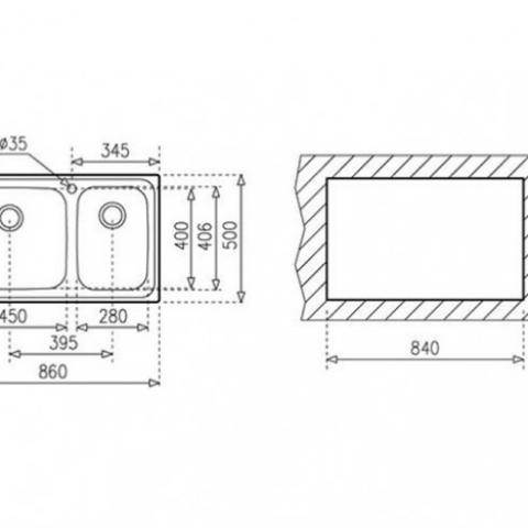 Кухонная мойка Teka CLASSIC MAX 2B LHD (11119207) микротекстура