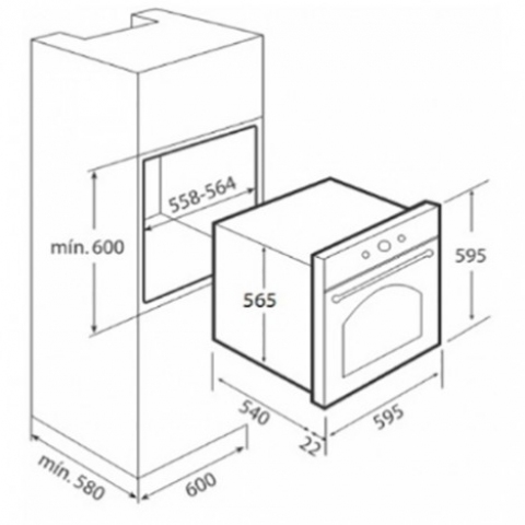 Электрический духовой шкаф Teka HR 550 (Rustica) (41561214) бежевый