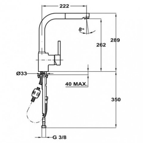 Смеситель кухонный Teka ARK 938 FB (23938121T) топаз