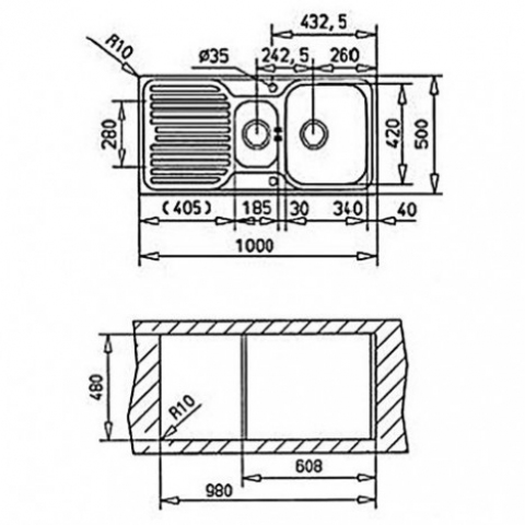 Кухонная мойка Teka PRINCESS 1 1/2 B 1D (30000174) микротекстура