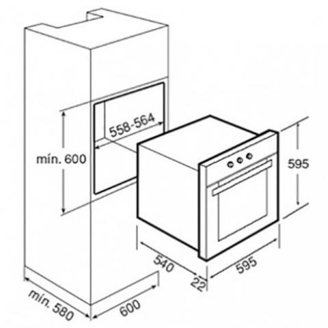 Электрический духовой шкаф Teka HE 615 eco (Universo) (41516710) нержавеющая сталь