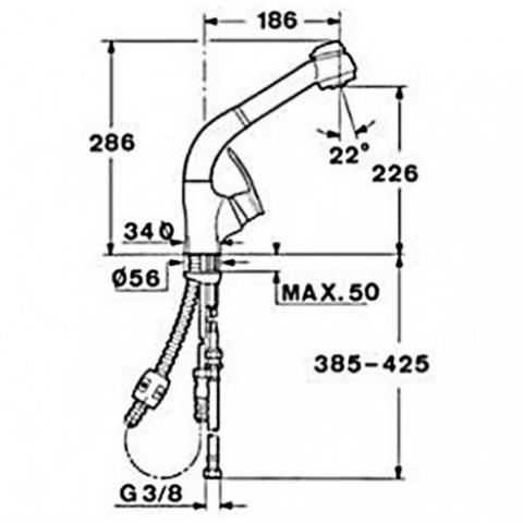 Смеситель кухонный Teka MС-10 Plus HP (97931802CC) матовый хром