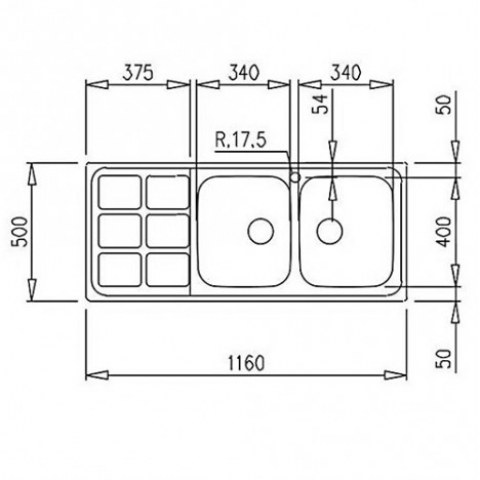 Кухонная мойка Teka CUADRO 2B 1D (12121001) полированная