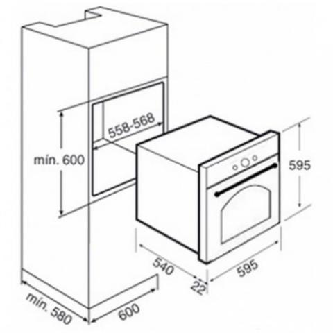 Электрический духовой шкаф Teka HR 750 (Rustica) (41564214) бежевый