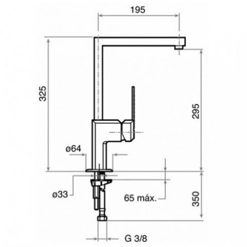 Смеситель кухонный Teka Expression H (EXP 995) MZX (389952700) хром