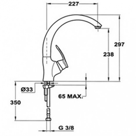Смеситель кухонный Teka MC-10 Plus HC (97911502CI) песочный (антрацит)
