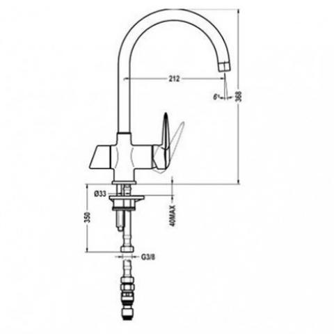 Смеситель кухонный Teka Pure (OS 200) (IC 915) (182000210) хром