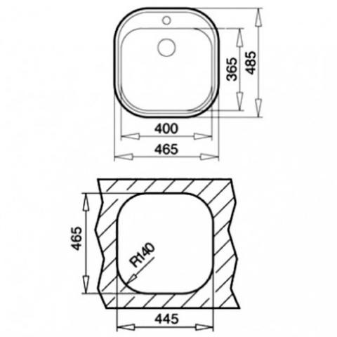 Кухонная мойка Teka STYLO 1B (10107045) микротекстура