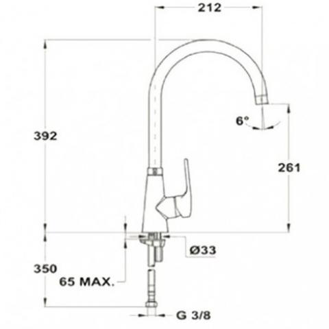 Смеситель кухонный Teka Vita H (VTK 915) (249150210) хром