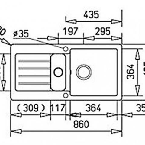 Кухонная мойка Teka KEA 60 B-TG (88840) топаз