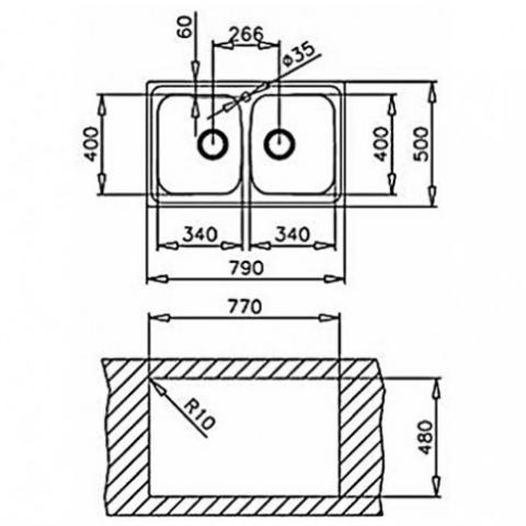 Кухонная мойка Teka UNIVERSO 2B 79 (10120003) матовая
