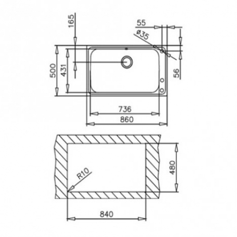 Кухонная мойка Teka BAHIA 1B (12127001) полированная