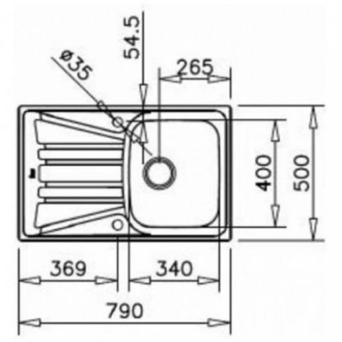 Кухонная мойка Teka Basico 79 1B 1D (10124002) микротекстура