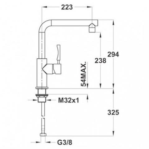 Смеситель кухонный Teka Inox H1 (INX 914) (749140210) нержавеющая сталь