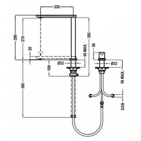 Смеситель кухонный Teka FO 985 (629850200) хром