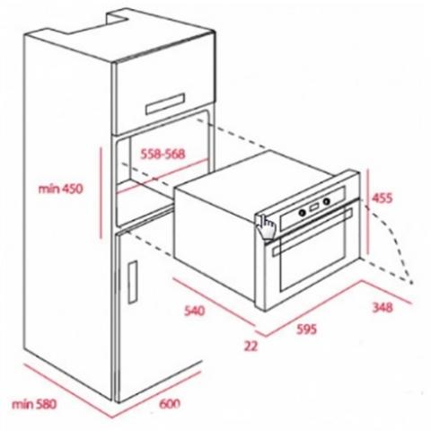 Электрический духовой шкаф Teka HKS 635 (Ebon) (41591201) нержавеющая сталь