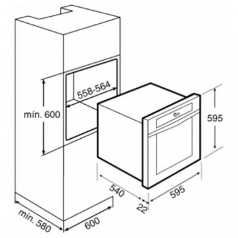 Электрический духовой шкаф Teka HS 735 (Ebon) (41522510) нержавеющая сталь