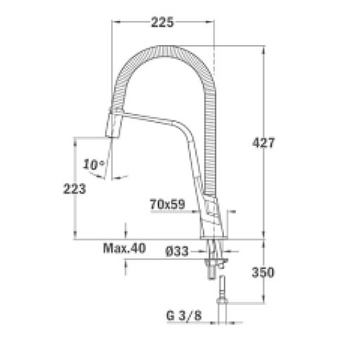 Смеситель кухонный Teka IC 939 Black (33939020N)