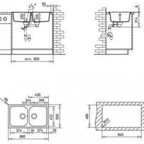 Кухонная мойка Teka ALBA 90 B-TG (40143470) карбон