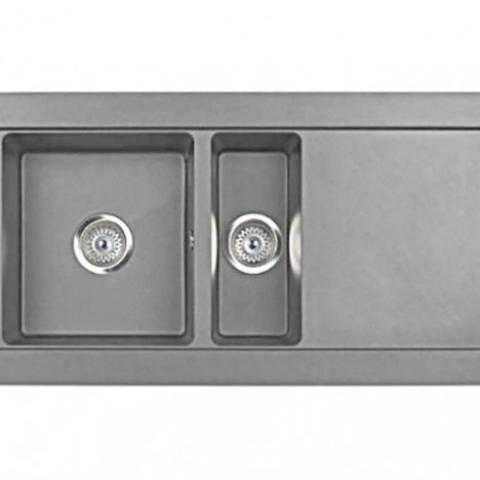 Кухонная мойка TEKA AURA 60B TG (88405) серый агат