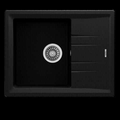 Кухонная мойка Teka STONE 45 S-TG 1B 1D (115330045) черный металлик