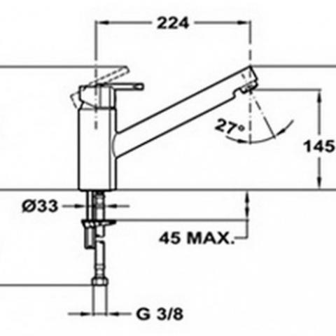 Смеситель кухонный Teka Elan LC (MX) (35911902) хром