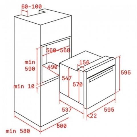 Электрический духовой шкаф Teka WISH UrbanColor HLB 8400 (111000006) серый камень
