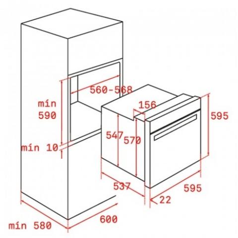 Электрический духовой шкаф Teka WISH UrbanColor HLB 8400 P (111000008) черный