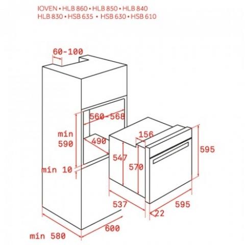 Электрический духовой шкаф Teka WISH UrbanColor HLB 8600 (111000010) черное стекло