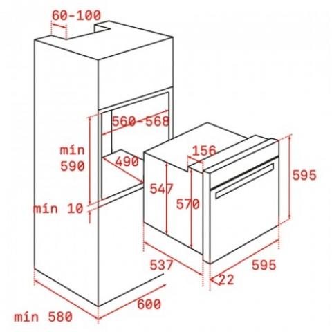 Электрический духовой шкаф Teka WISH UrbanColor HLB 8600 (111000014) капучино