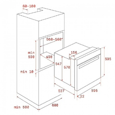 Электрический духовой шкаф Teka WISH Rustica HRB 6100 AT (111010006) черный