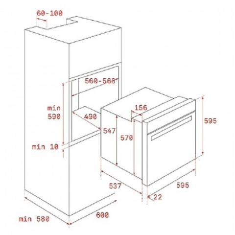 Электрический духовой шкаф Teka WISH Rustica HRB 6300 AT (111010010) черный