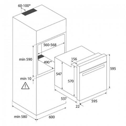Электрический духовой шкаф Teka WISH Easy HBB 635 (111020012) нержавеющая сталь